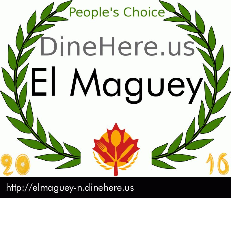 El Maguey DineHere.us 2016 Award Winner